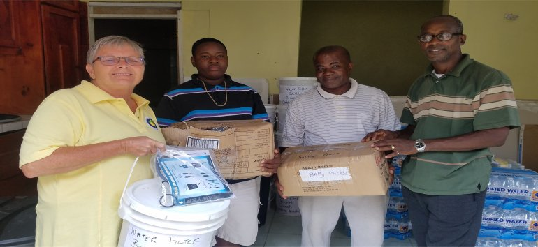Sawyer PointOne Water Filtration Systems for the churches of Dominica following hurricane Maria devestation