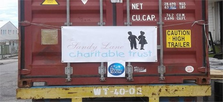 Sandy Lane Charitable Trust sponsoring the shipping of the container to Antigua