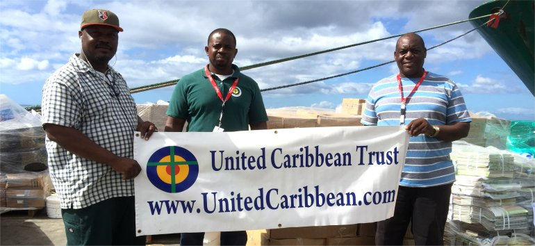 United Caribbean Trust partnering with The Living Room distributing Sawyer PointOne Water Filtration Systems in Dominica following hurricane Maria