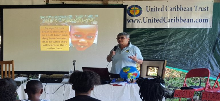 Dominica Childrens Evangelism Outreach Workshop sponsored by United Caribbean Trust