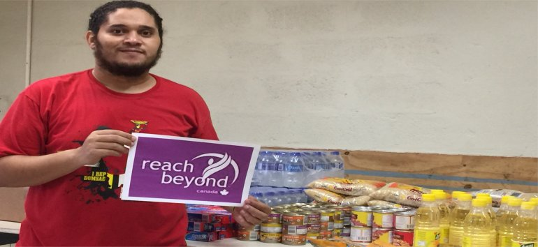 Reach Beyond donated food hampers as part of our Dominica Evangelism Outreach