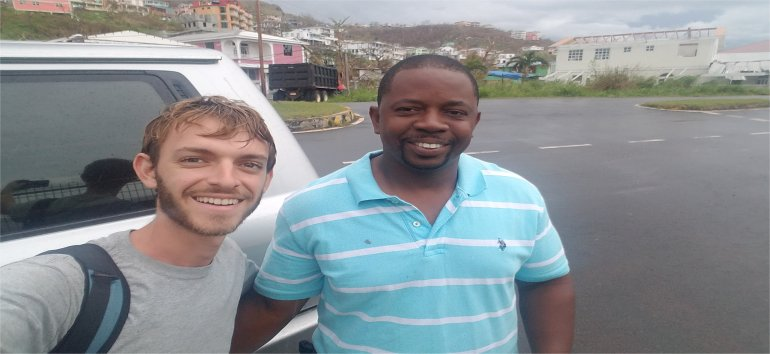 Eliot Scarpetti joins UCT Mission trip assisted by Rescue Global working with the United Caribbean Trust partnering with The Living Room to get Medical supplies and Sawyer PointOne Water Filtration Systems in Dominica following hurricane Maria