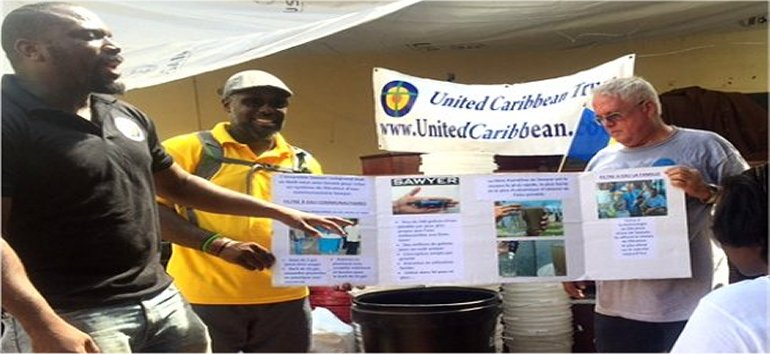CIBC First Caribbean supports United Caribbean Trust in purchasing Sawyer PointOne Water Filtration Systems in Haiti following hurricane Matthew