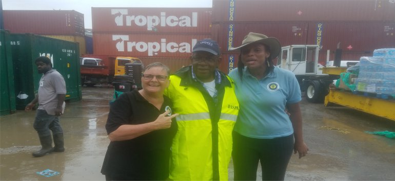Johanan Lafeuillee Doughlin travels by Rescue Global working with the United Caribbean Trust to get Medical supplies and Sawyer PointOne Water Filtration Systems in Dominica following hurricane Maria